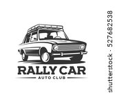 rally car classic | Shutterstock .eps vector #527682538