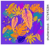 vector graphical tropical... | Shutterstock .eps vector #527693284