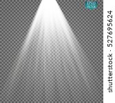 vector spotlights. scene. light ... | Shutterstock .eps vector #527695624