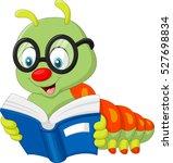 caterpillar reading book | Shutterstock .eps vector #527698834