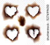 burnt hole scorched paper... | Shutterstock .eps vector #527699650