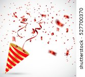 exploding party popper with... | Shutterstock .eps vector #527700370