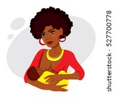 young african american mother... | Shutterstock .eps vector #527700778