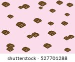 chocolate bars pattern | Shutterstock .eps vector #527701288