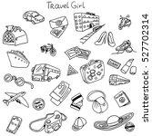 set of travel labels.... | Shutterstock .eps vector #527702314
