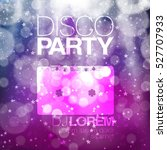 disco poster or flyer design... | Shutterstock .eps vector #527707933