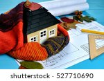 layout of the house in the... | Shutterstock . vector #527710690