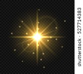 golden light flare or star... | Shutterstock .eps vector #527714383