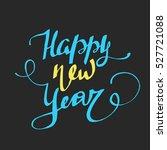 vector christmas card. happy... | Shutterstock .eps vector #527721088