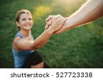 close up shot of man helping... | Shutterstock . vector #527723338
