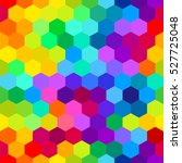colorful bright hexagons.... | Shutterstock .eps vector #527725048