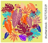 vector graphical tropical... | Shutterstock .eps vector #527725219