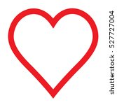 love vector heart shape symbol... | Shutterstock .eps vector #527727004