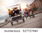 group of friends having fun... | Shutterstock . vector #527727484