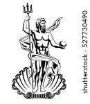 neptune sea god in roman... | Shutterstock .eps vector #527730490