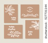 set of hand drawn christmas...   Shutterstock .eps vector #527731144
