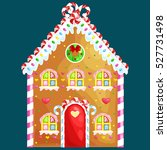 gingerbread house decorated... | Shutterstock . vector #527731498