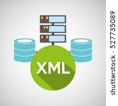 xml language data base storage... | Shutterstock .eps vector #527735089