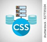 css language data base storage... | Shutterstock .eps vector #527735104