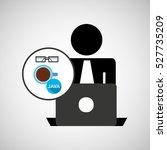 silhouette programmer working... | Shutterstock .eps vector #527735209