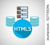 html5 language data base... | Shutterstock .eps vector #527735296