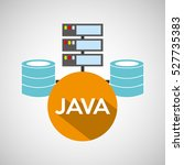 java language data base storage ... | Shutterstock .eps vector #527735383