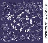 vector  hand drawn christmas... | Shutterstock .eps vector #527736310