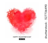 valentines day card. vector... | Shutterstock .eps vector #527736490