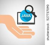 hand optimization technology... | Shutterstock .eps vector #527737090