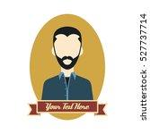 hipster mustache gentleman... | Shutterstock . vector #527737714