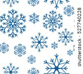 snowflake simple seamless... | Shutterstock .eps vector #527740228
