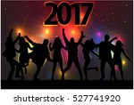 silhouettes celebrate the new... | Shutterstock .eps vector #527741920