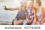 happy young people taking... | Shutterstock . vector #527742034