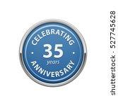 celebrating anniversary 35... | Shutterstock .eps vector #527745628