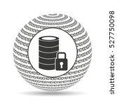 globe binary concept data base... | Shutterstock .eps vector #527750098