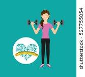 heart weight loss sport girl... | Shutterstock .eps vector #527755054