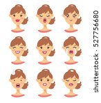 set of emoji character. cartoon ... | Shutterstock .eps vector #527756680