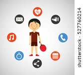 sportsman ping pong apps icons...   Shutterstock .eps vector #527760214