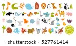Stock vector big vector set of animals 527761414