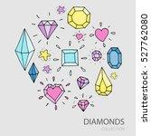 vector set of design elements ... | Shutterstock .eps vector #527762080