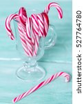 christmas striped candies | Shutterstock . vector #527764780