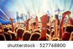 party people enjoy concert at... | Shutterstock . vector #527768800