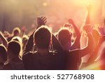 people dancing and cheering at... | Shutterstock . vector #527768908