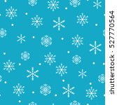 snowflake simple seamless... | Shutterstock .eps vector #527770564