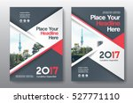 red color scheme with city... | Shutterstock .eps vector #527771110