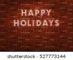 vintage happy holidays...   Shutterstock .eps vector #527773144