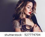 close up portrait of elegant... | Shutterstock . vector #527774704
