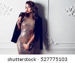 fashionable  flash portrait of...   Shutterstock . vector #527775103