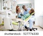 medical dentist team in dental... | Shutterstock . vector #527776330