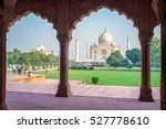 facade view of taj mahal in... | Shutterstock . vector #527778610
